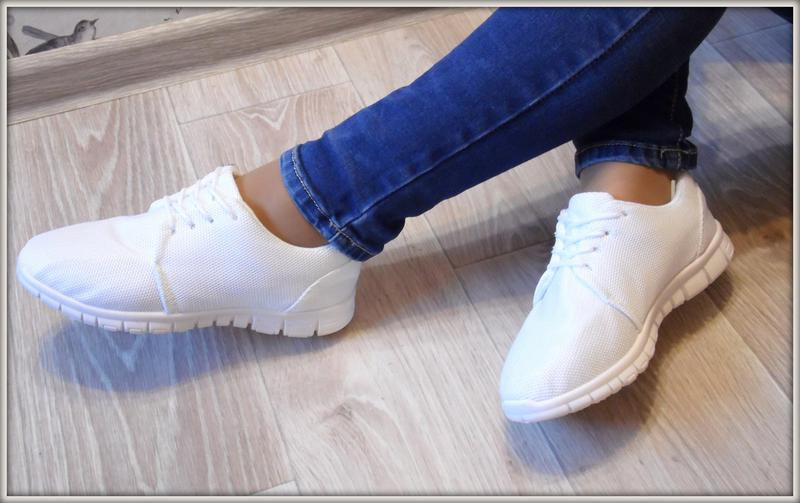 f837987e Легкие белые кроссовки женские кеды для зала и занятий спором 36-411 фото  ...