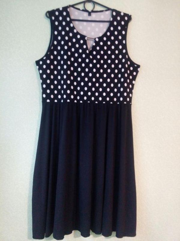 3576eaaa2b8 Трикотажное платье в горошек.размер 52-54.1 ...