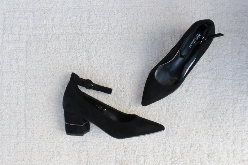 Черные туфли 36, 37, 38, 39, 40 размера на устойчивом каблуке, цена - 550 грн, #39289720, купить по доступной цене | Украина - Шафа
