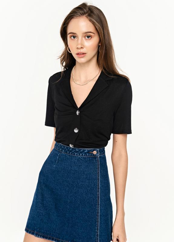 Черная рубашка однотонная befree, цена - 290 грн, #39330515, купить по доступной цене | Украина - Шафа