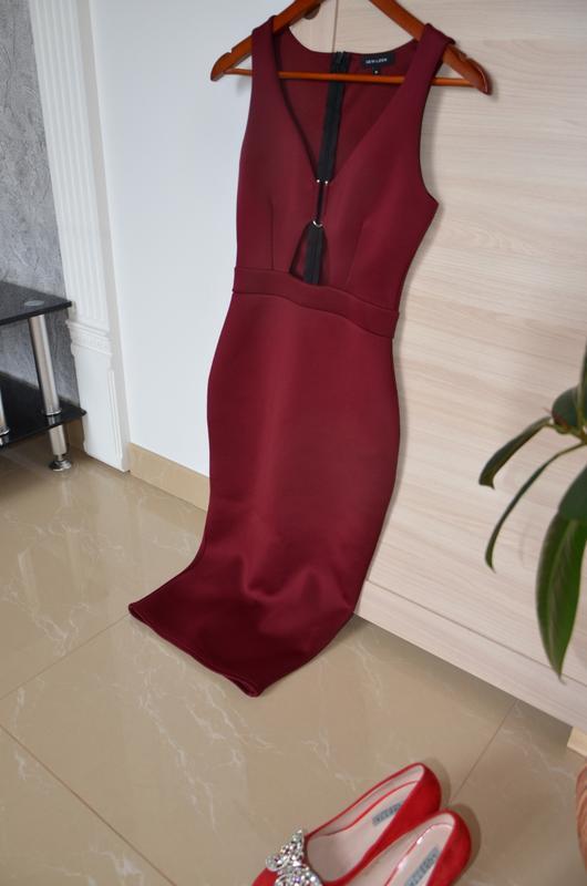 Платье миди бордо New Look, цена - 250 грн, #39342062, купить по доступной цене | Украина - Шафа