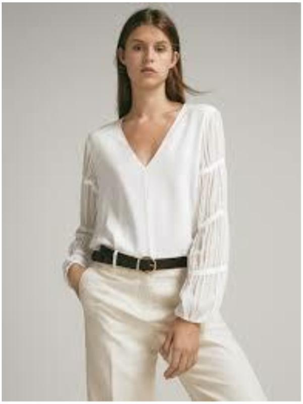 Блуза блузка белая massimo dutti Massimo Dutti, цена - 750 грн, #39603161, купить по доступной цене | Украина - Шафа