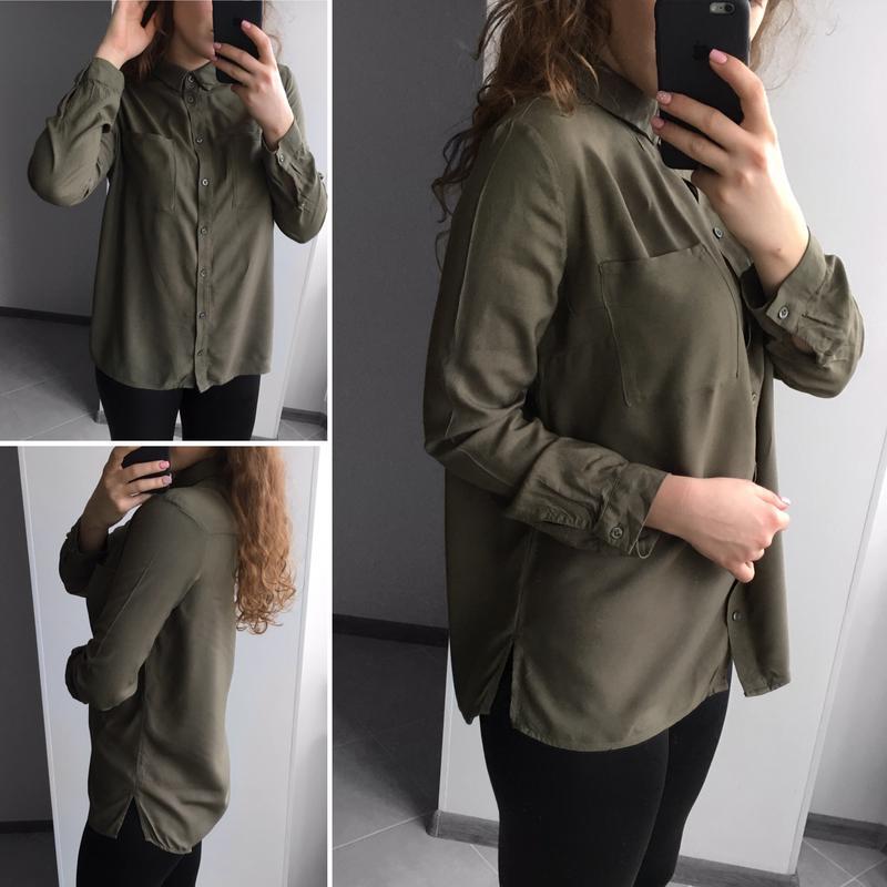 Рубашка женская цвета хаки