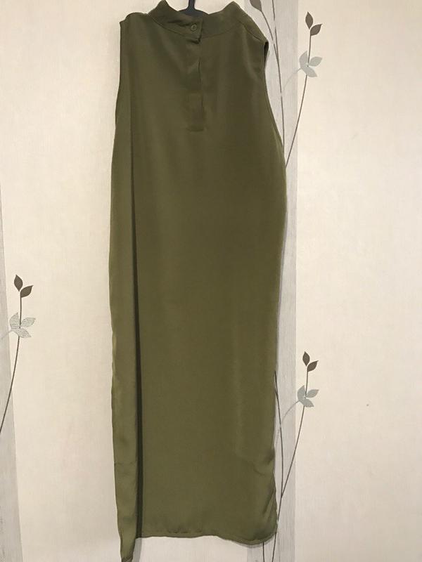 2f37c4d6e77 ... Супер стильная длинная блузка рубашка платье цвета хаки3 фото ...