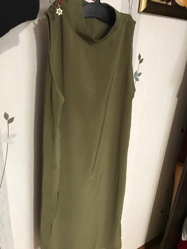 2022ea534df ... хаки1 фото · Супер стильная длинная блузка рубашка платье цвета хаки2  фото ...