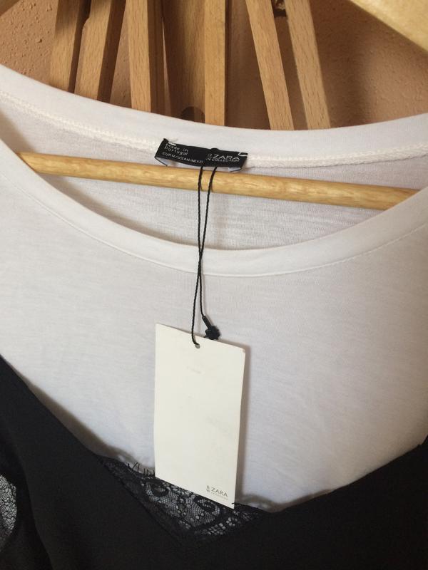 19d19ab909788 ... Актуальная футболка с кружевной майкой топом бельевой стиль3 фото ...
