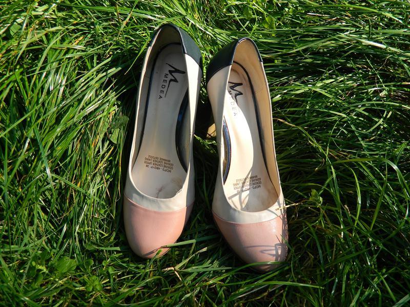 Бежеві шкіряні туфлі 38 розмір 6886a6cef3c09