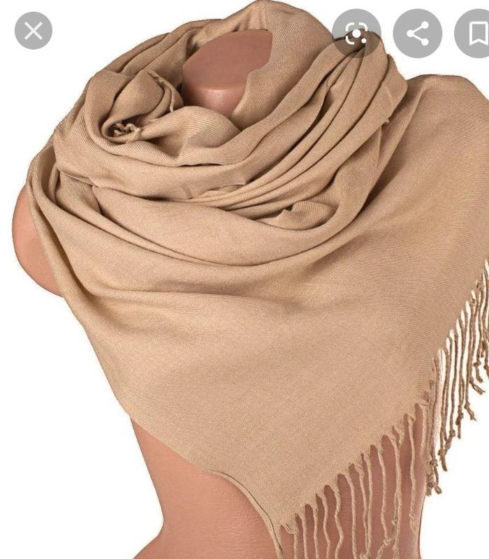 Большой палантин шарф шаль бежевый с кистями, цена - 120 грн, #40024284, купить по доступной цене | Украина - Шафа
