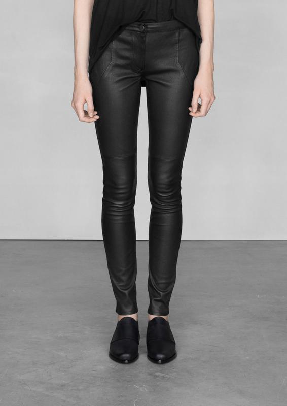 купить кожаные брюки легинсы