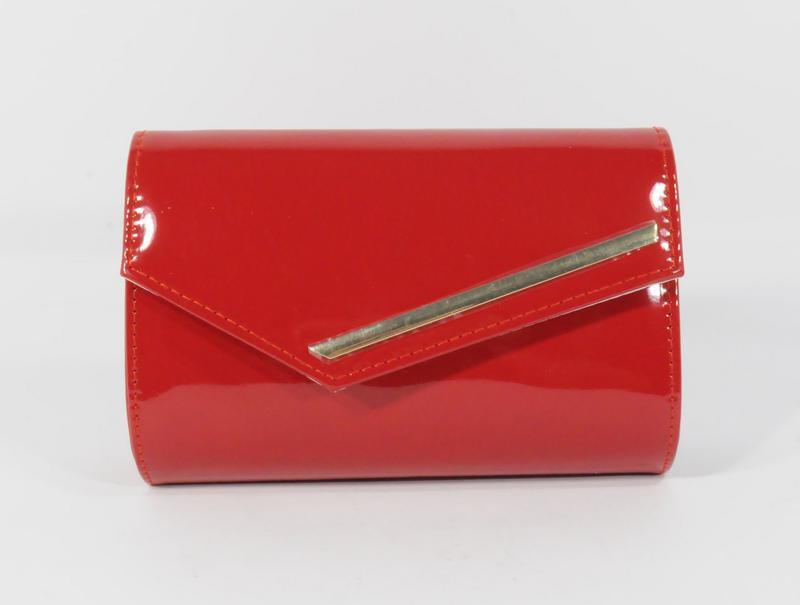 40f6524cf62b Вечерний красный лаковый клатч rose heart 080, сумочка на цепочке1 фото ...