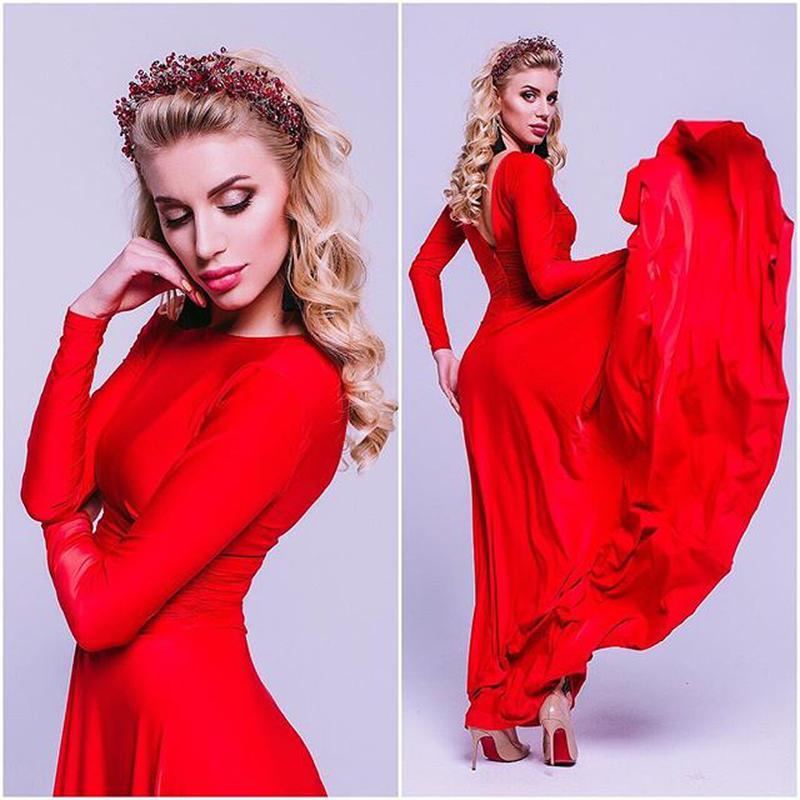 7d7cb376512 Красное платье в пол1 ...