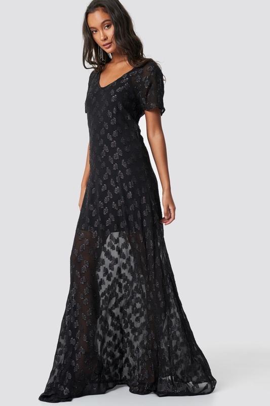 Шикарное лёгкое прозрачное блестящее платье NA-KD, цена - 129 грн, #41365625, купить по доступной цене | Украина - Шафа