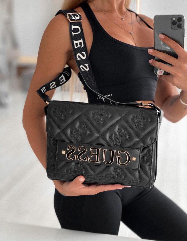 Красивая и аккуратная женская сумка guess в черном цвете ? Guess, цена - 1290 грн, #41452988, купить по доступной цене | Украина - Шафа