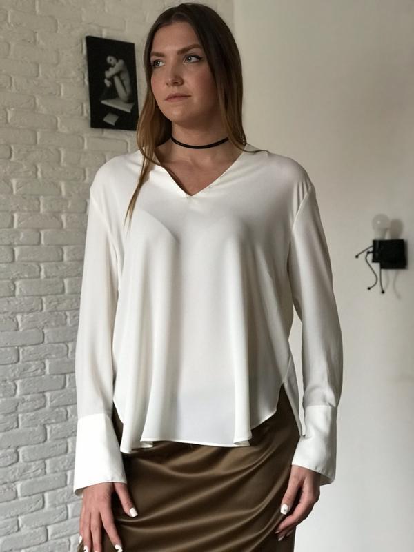 Айвори удлиненная блуза на длинный рукав H&M, цена - 149 грн, #41504590, купить по доступной цене | Украина - Шафа