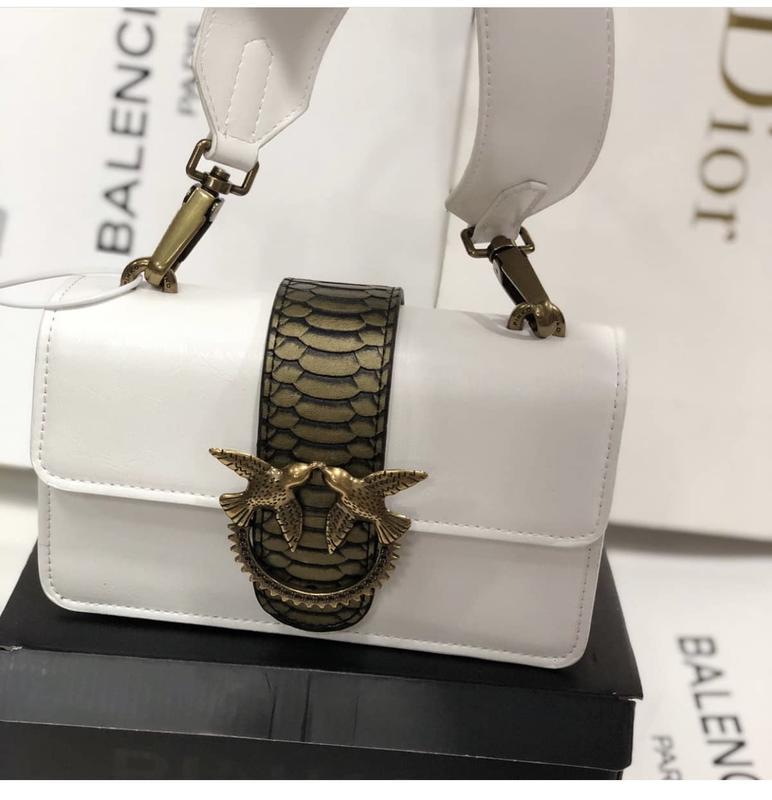 Кожаная сумка сумка кожаная белая pinko Pinko, цена - 2700 грн, #41567075, купить по доступной цене | Украина - Шафа
