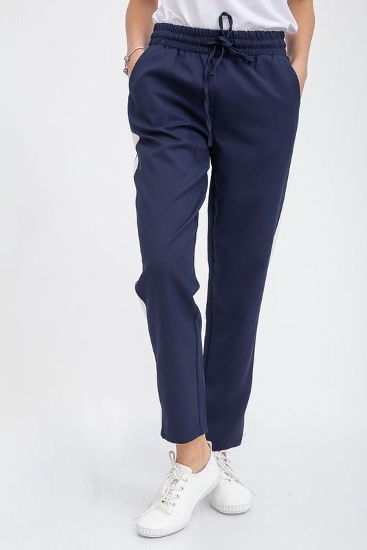 Брюки женские темно-синие укороченные с карманами 115r223d, цена - 450 грн, #41800285, купить по доступной цене   Украина - Шафа