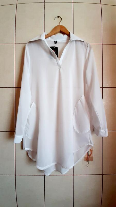 Белоснежная новая шифоновая рубашка q&t Atmosphere, цена - 320 грн, #41814539, купить по доступной цене | Украина - Шафа