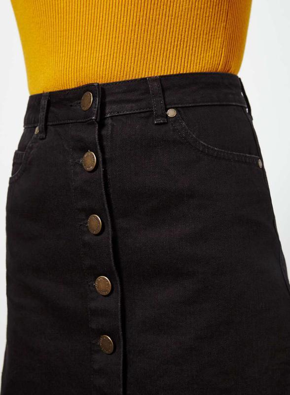 fd1b1299fbf Черная джинсовая юбка на пуговицах1 фото ...