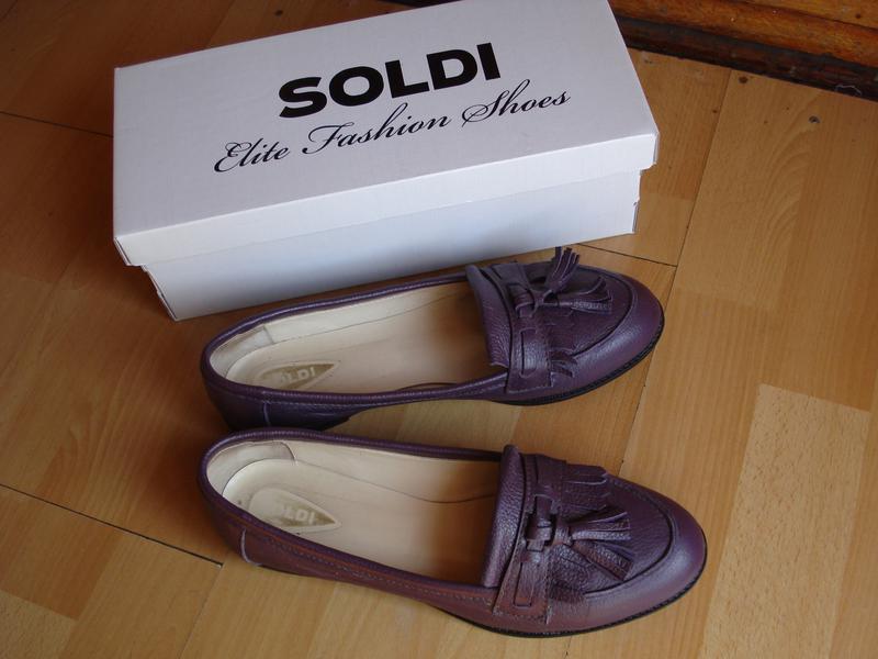 Красивые кожаные туфли балетки шелдон-kz soldi (солди) 39 р. , 25,5 ... d3684c0a7d9