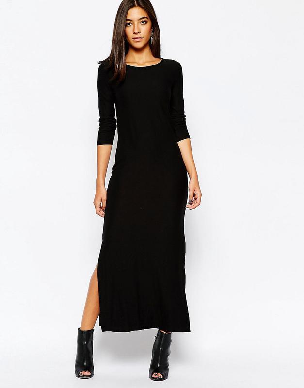 c4aa9f0a428 Трикотажное платье макси с глубокими разрезами1 фото ...