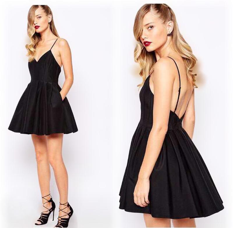 bdd95ec1f88ccc6 Черное платье на бретельках с открытой спиной пышное, колокольчик1 фото ...
