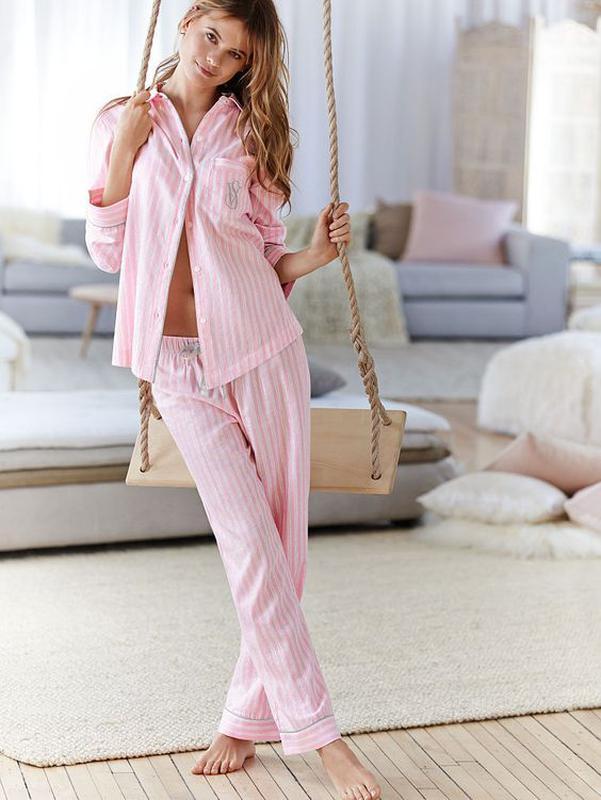 a57eed89f816a Шикарный уютный фланелевый домашний костюм пижама victoria's secret.  оригинал. сша. xs на s1 ...