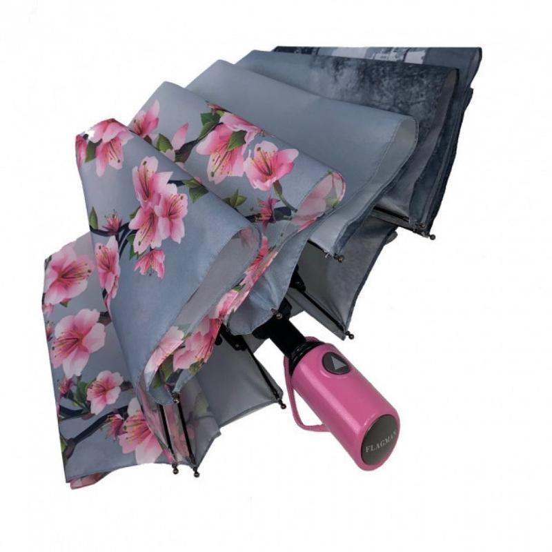 Зонт вишня сакура и париж полуавтомат и есть автомат.3 фото