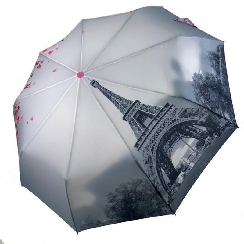 Зонт вишня сакура и париж полуавтомат и есть автомат.6 фото