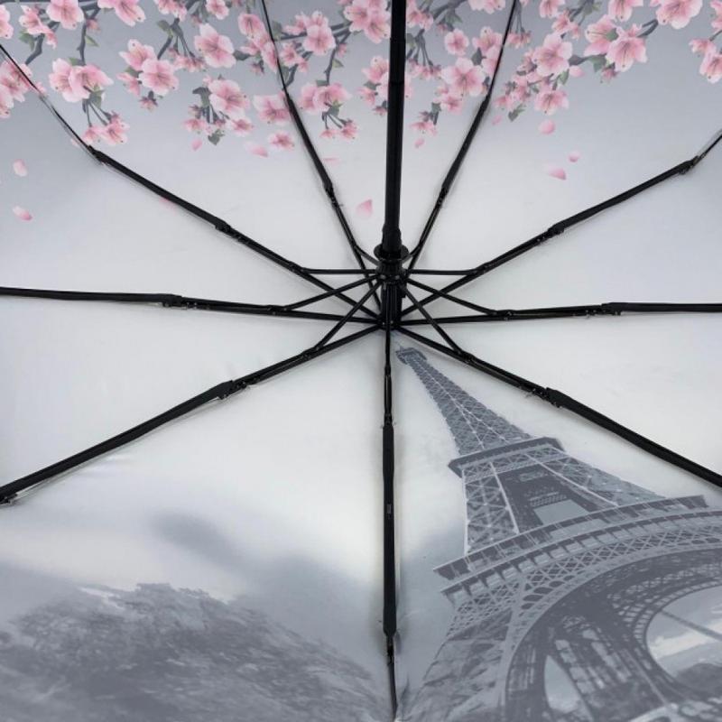 Зонт вишня сакура и париж полуавтомат и есть автомат.7 фото