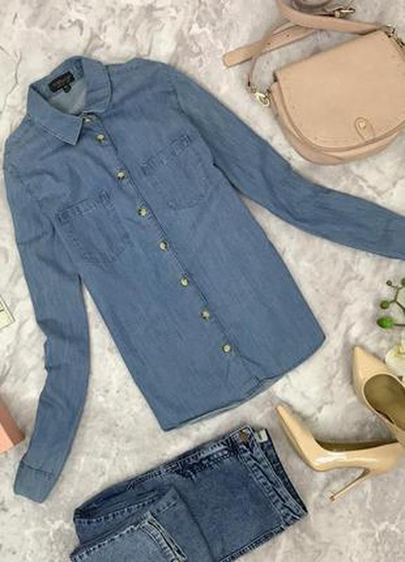 Джинсовая рубашка с накладными карманами  bl1806113  top shop Top Hat, цена - 138 грн, #43627827, купить по доступной цене | Украина - Шафа