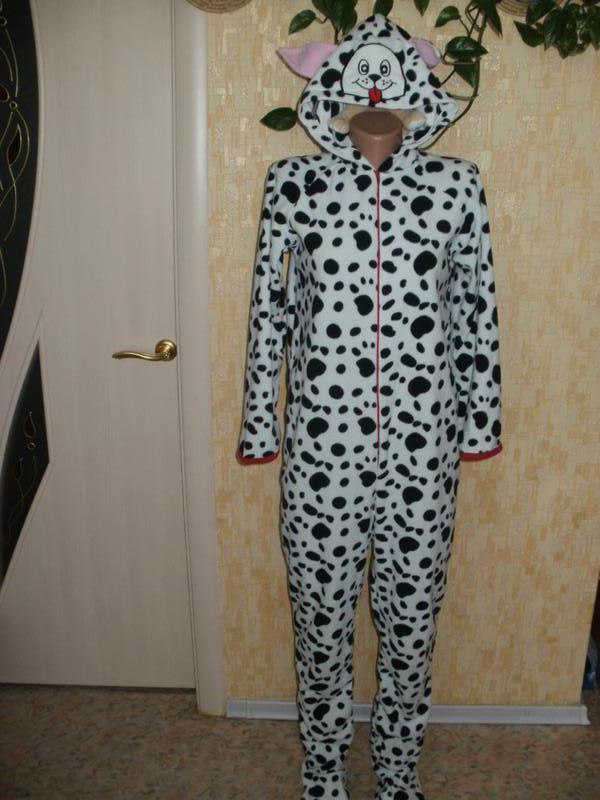 Тёплый милый человечек собачка кигуруми слип человечек халат костюм пижама  комбинезон1 ... 41fb76eeb982d