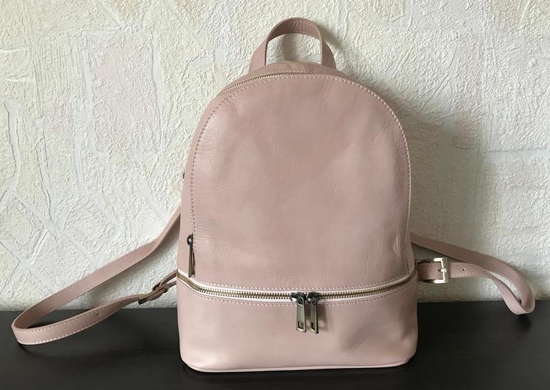 Рюкзак натуральная кожа  италия  пудровый средний, цена - 1895 грн ... a211207fc50