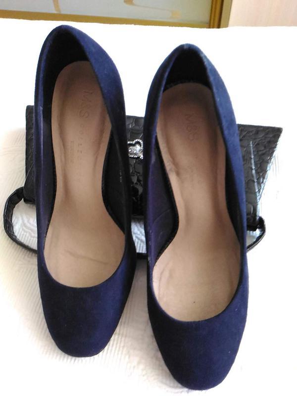 062ab176ef2 Темно - синие замшевые туфли. Marks   Spencer