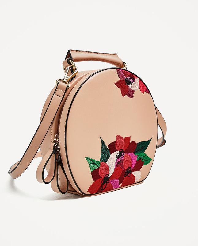 Zara сумка с вышивкой