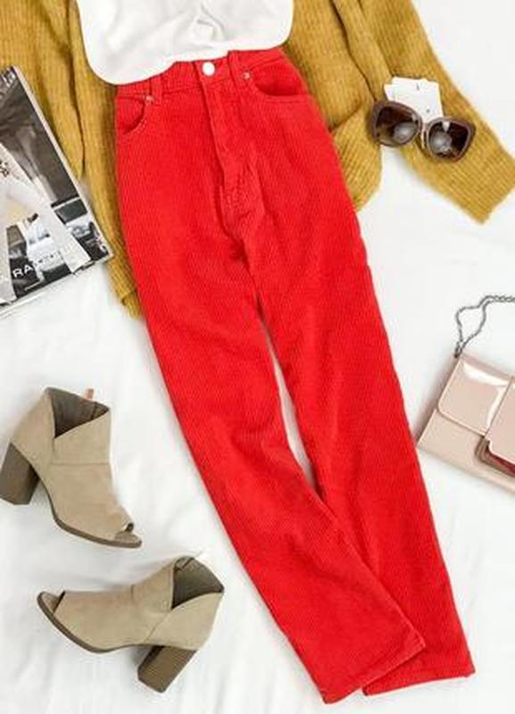 Яркие прямые брюки из вельвета pn 1943126  weekday Weekday, цена - 200 грн, #44258664, купить по доступной цене   Украина - Шафа