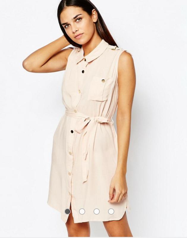 91043afb0a1 Платье-рубашка без рукавов цвета пудры club l от asos1 фото ...