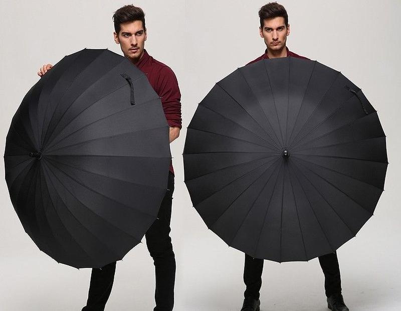 Велика президентська парасоля парасолька на 16 броньовані спиці / зонт зонтик укреплённый, цена - 390 грн, #44302518, купить по доступной цене | Украина - Шафа