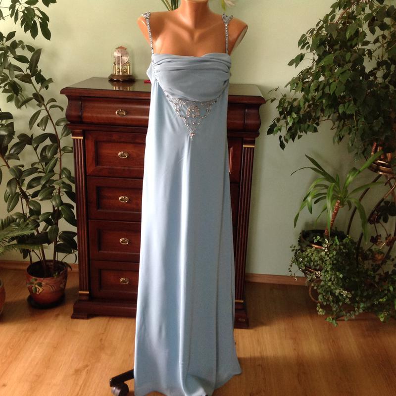 f3ba51570bd Шикарное елегантное бирюзовое платье в пол.  16  brend gina bacconi.  италия1 ...
