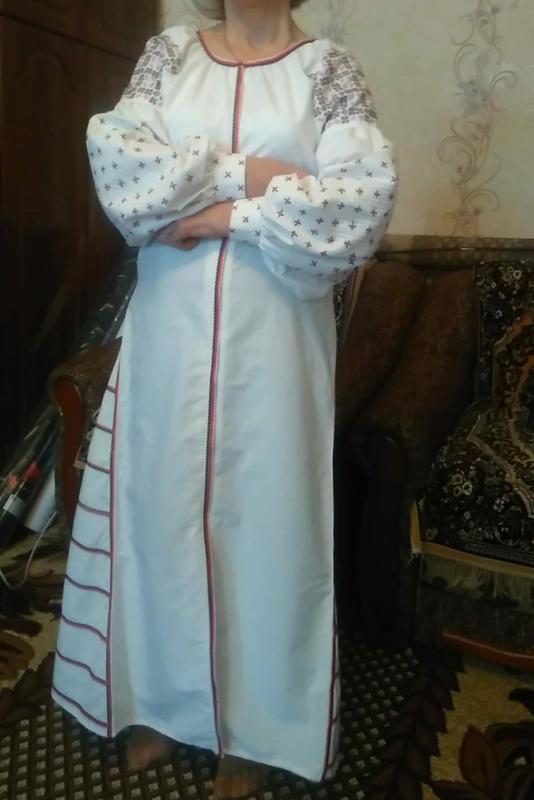 6e223bcb93e794 Платье -вышиванка в стиле бохо (машинная вышивка ) 100% лен Ручная ...