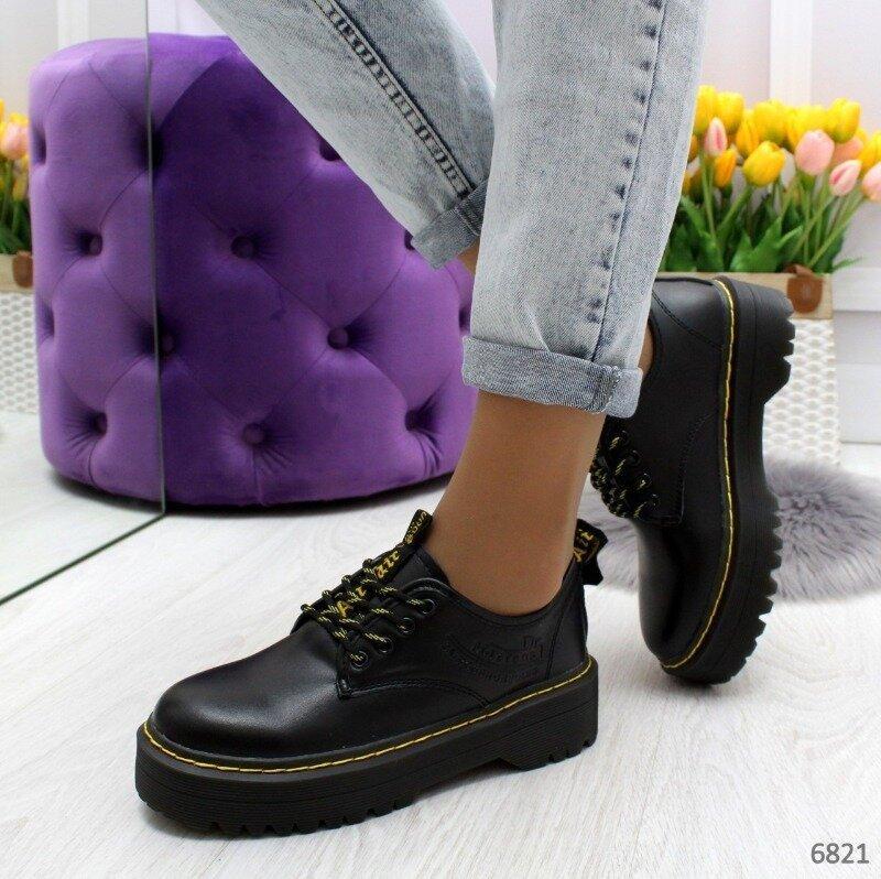 Туфли из натуральной кожи черного цвета Турция, цена - 679 грн, #45385222, купить по доступной цене | Украина - Шафа