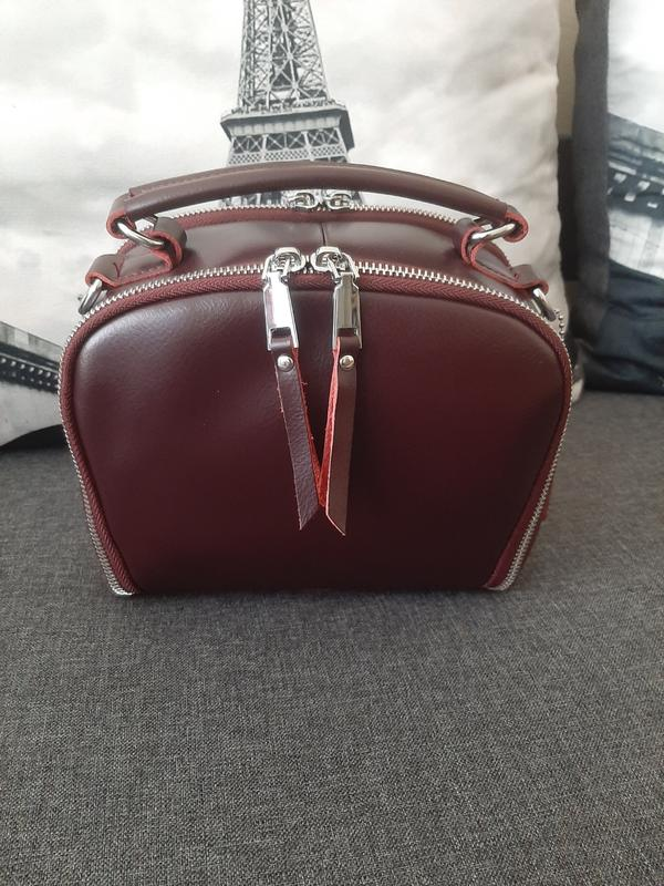 Сумка кожаная бордо марсала из натуральной кожи Genuine Leather, цена - 520 грн, #45435309, купить по доступной цене | Украина - Шафа