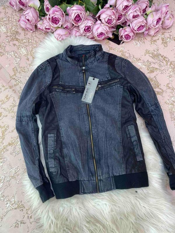 Стильная мужская курточка джинс + пресс кожа, цена - 490 грн, #45563125, купить по доступной цене | Украина - Шафа