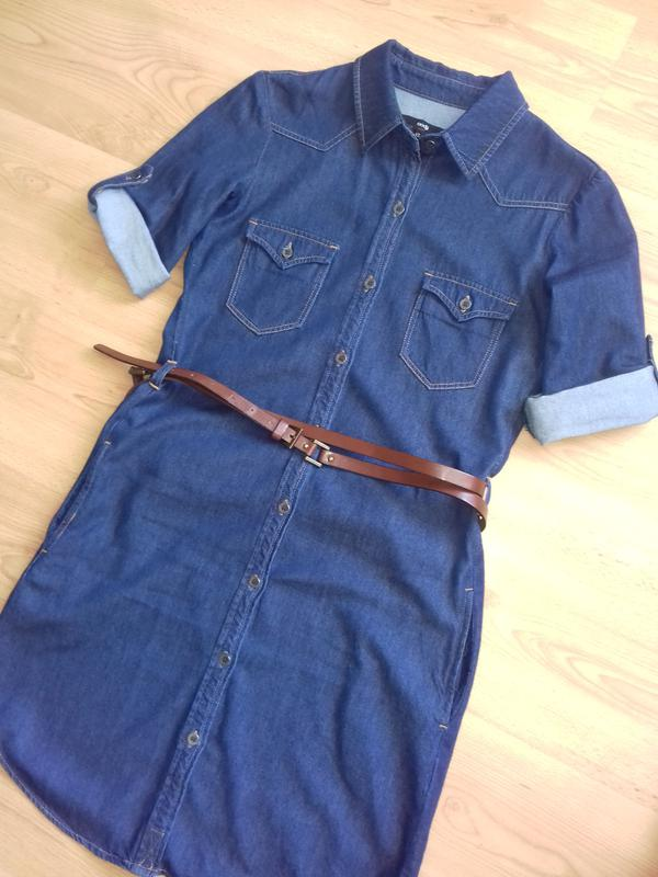 d9af0cb2b7c Джинсовое платье-рубашка oodji Oodji