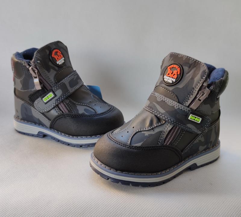 Детские демисезонные ботинки для мальчика 22-27 р. 5312-2 хаки, цена - 245 грн, #46038354, купить по доступной цене   Украина - Шафа