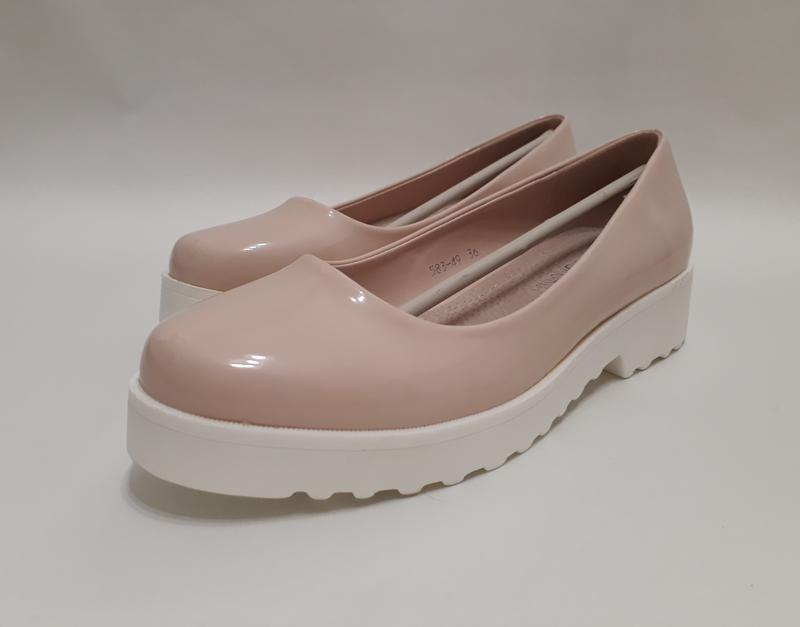 3b18d54adf81 Женские бежевые лаковые туфли (балетки), цена - 340 грн,  5369898 ...
