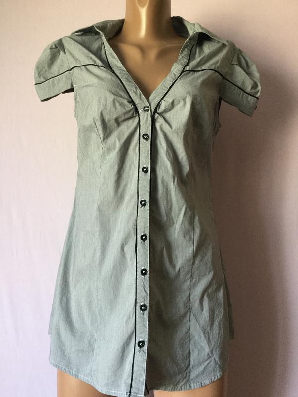 cf1be987438 Рубашка длинная короткий рукав серая полосатая фирменная распродажа1 ...