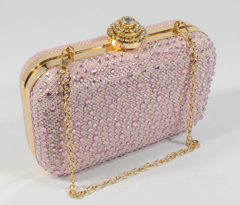 Вечерний мини-клатч в камнях, сумочка на цепочке rose heart 0951 розовая  пудра1 ... b8aea886fbb