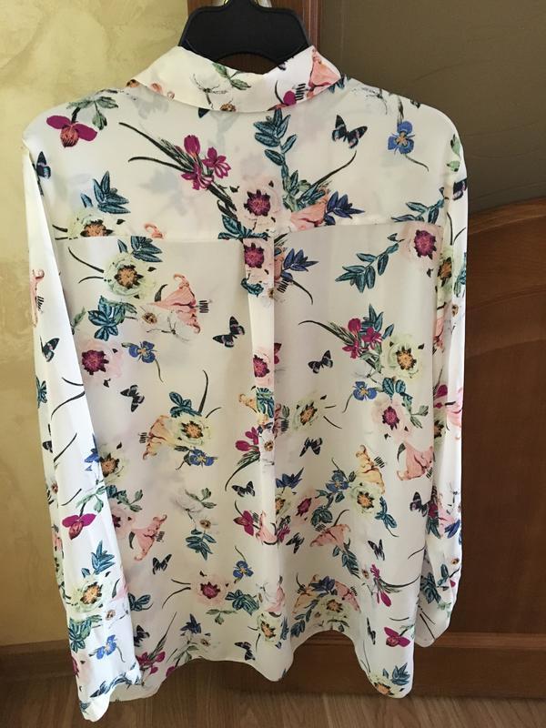 Блузки цветочный принт купить