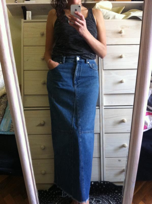 15fe0521fe7 Джинсовая юбка в пол Ralph Lauren