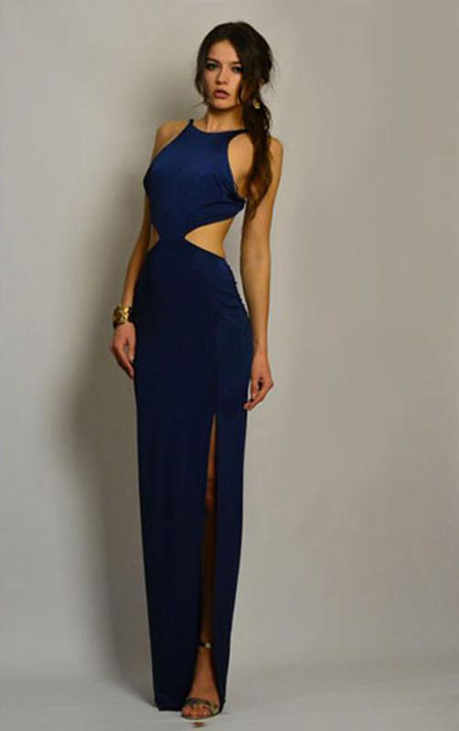 f2fbf56f9a6 Сексуальное платье в пол с открытой спиной